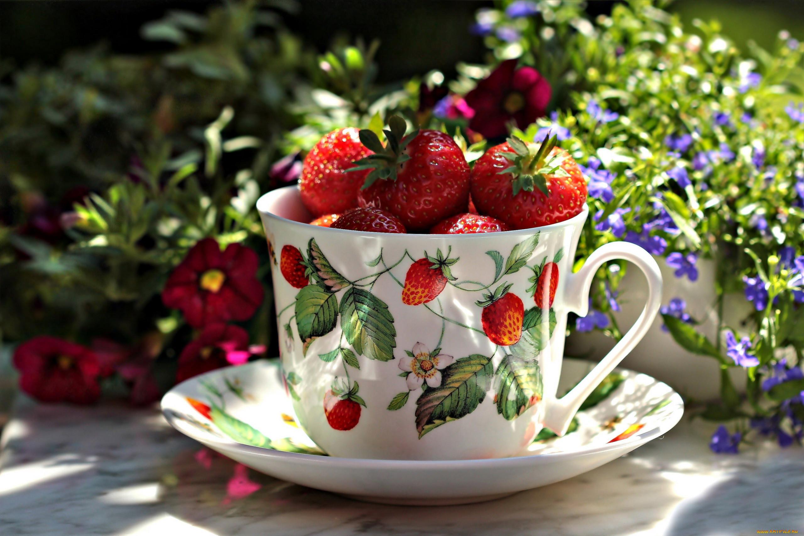 Доброе утро картинки красивые необычные клубника